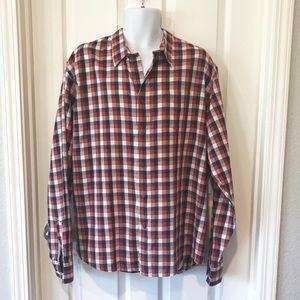 Wrangler Blue Red Button Down Shirt XXL 2XL